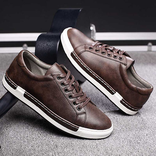 Trend Retro Casual Shoes Leather Flat High Quality Footwear
