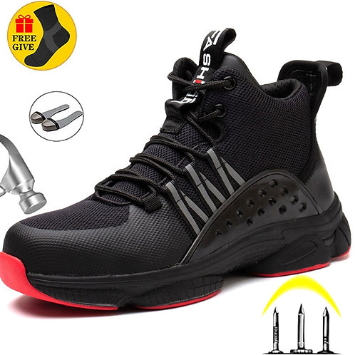 Men's Lightweight Safety Work Boots/Sneakers Anti-Smash Steel Toe