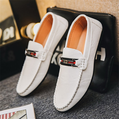 Leather Men Casual Shoes Luxury Brand  Men's Loafers/Moccasins