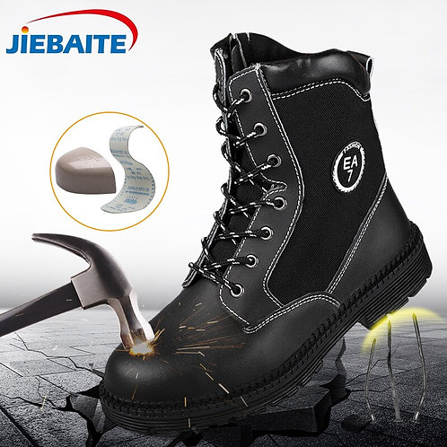 Work Safety Boots Steel Toe Breathable With Protective Puncture Proof