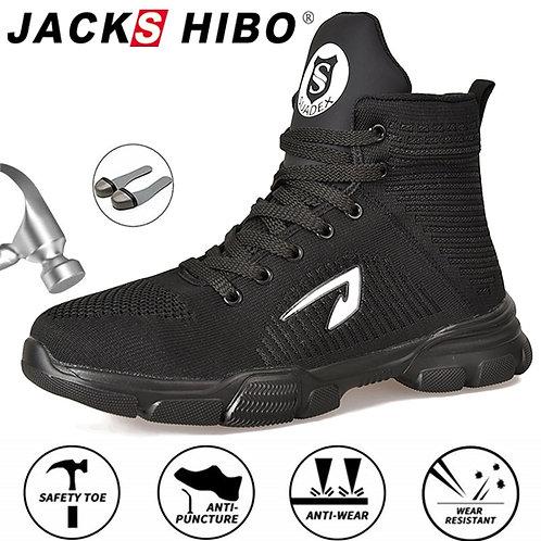 JACKSHIBO All Season Men Safety Work Boots Steel Toe Anti-Smashing