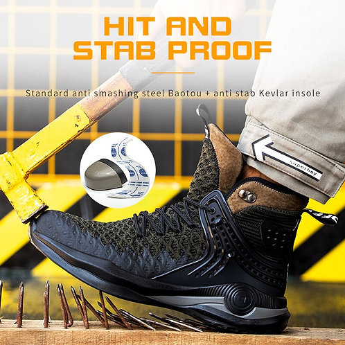 Safety Steel Toe Boots Indestructible & Light Weight Working Shoe