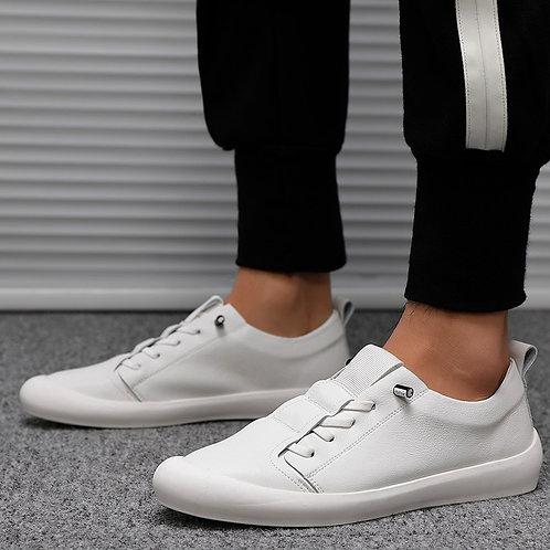 Low Top Men's Genuine Leather Sneakers Casual  Footwear Fashion