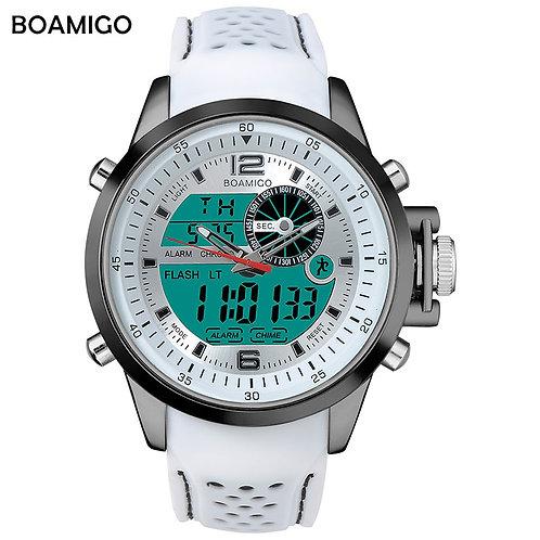 Luminous Military White Quartz Waterproof Watch
