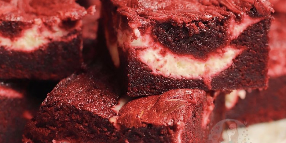 Monday December 21 @4pm - Red Velvet Brownies with cheesecake swirls
