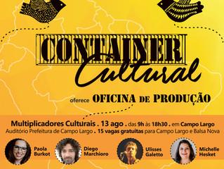 Container Cultural 2ª Edição oferece: Oficina de Produção - Multiplicadores Culturais