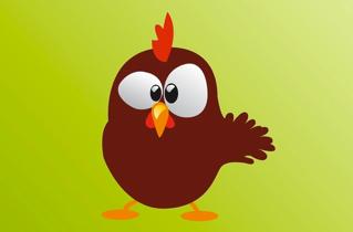 Kippen in een kippenhok