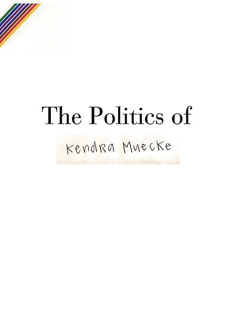 """The Politics of"" signed, physical book"