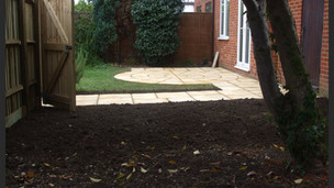 New Paving, Fresh Lawn, New Fencing and Gate fitting