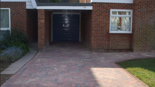 Paved front garden