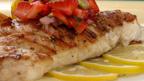 Pan Grilled Florida Red Snapper with Strawberry & Avocado Salsa