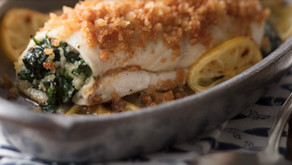 Spinach Stuffed Flounder Roulade