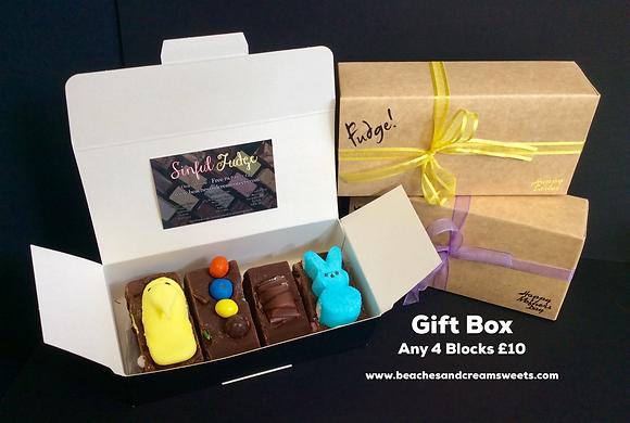 Sinful Fudge 'Random Mix' Box of 4 Blocks - We'll pick you 4 different Blocks