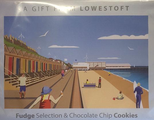 Beaches & Cream Lowestoft - Fudge Selection & Chocolate Chip Cookies 320g