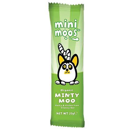 Mini Moos Minty Moo Dairy & Gluten Free Chocolate Bar 20g