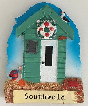 Southwold Beach Hut Fridge Magnet