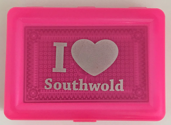 """I Love Southwold"" Pink Playing Cards"