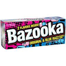 Bazooka Original & Blue Razz Bubble Gum