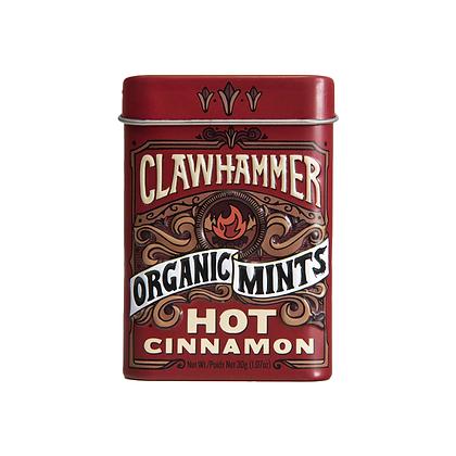 Clawhammer Organic Mints Hot Cinnamon 30g