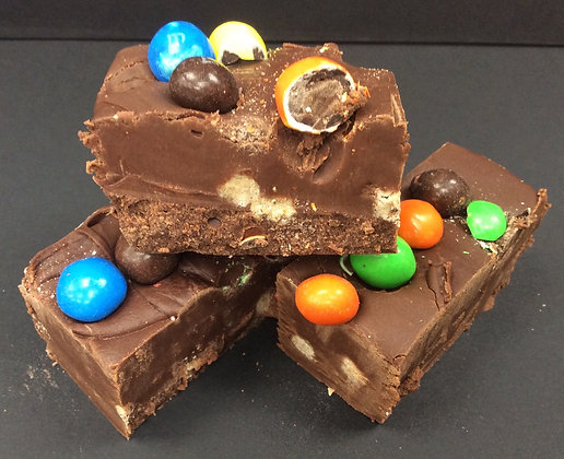 Sinful Chocolate and Brownie Homemade Fudge with Brownie M&M's - Approx. 100g