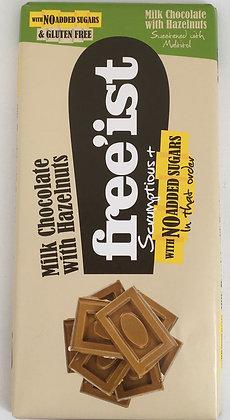 Free'ist - Milk Chocolate With Hazelnuts No Added Sugars 75g
