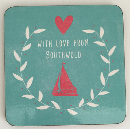 """""""With Love From Southwold"""" Coaster (Boat)"""