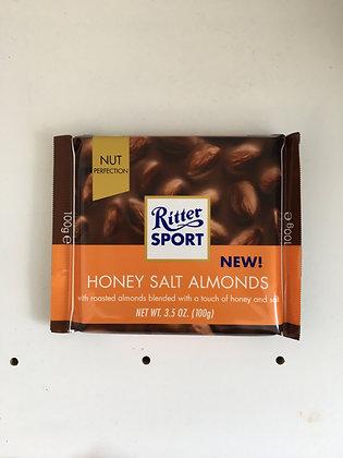 Ritter Sport - Honey Salt Almonds 100g