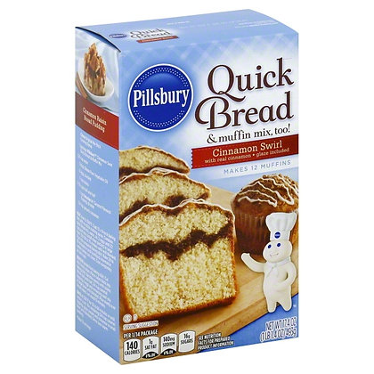 Pillsbury Quick Bread Cinnamon Swirl 493g