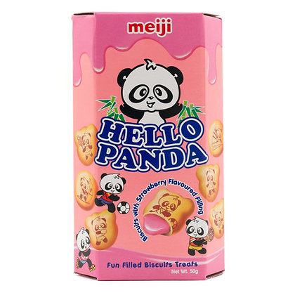 Hello Panda with Strawberry Flavoured Filling 50g