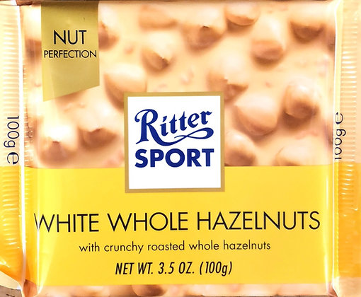 Ritter Sport - White Whole Hazelnuts 100g