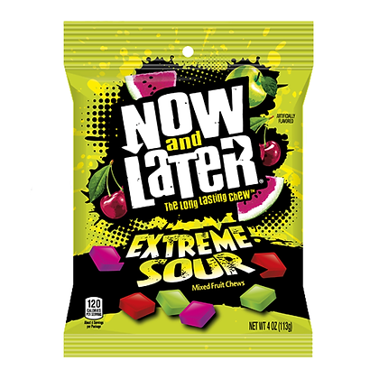 Now and Later Extreme Sour 113g