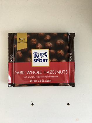 Ritter Sport - Dark Whole Hazelnuts 100g