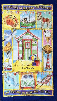 """Southwold """"Oh I Do Like To Be Beside The Seaside"""" Tea Towel"""