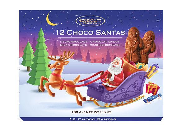 12 Choco Santas 100g
