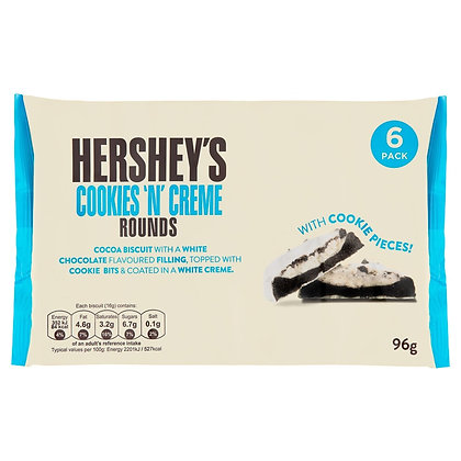 Hershey's Cookies 'n' Creme Rounds 6 Pack 96g