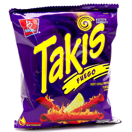 Takis Fuego 113.4g Hot Chili Pepper & lime Tortilla Chips DATED 12TH APRIL 2020