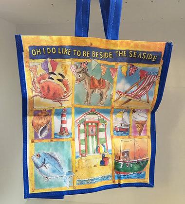 """Oh I do Like To Be Beside The Seaside"" Reusable Bag"
