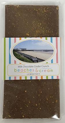 Beaches & Cream Lowestoft - Milk Chocolate Cinder Crunch 100g