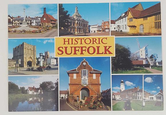 """Historic Suffolk"" Postcard"