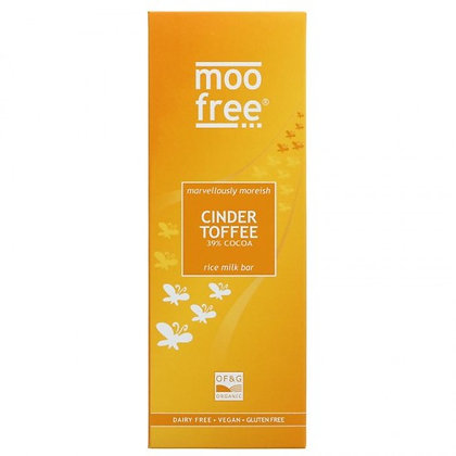 Moo Free Organic Cinder Toffee Rice Milk Bar 80g (Vegan Friendly)