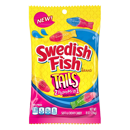 Swedish Fish Tails (2 Flavours in 1) 226g