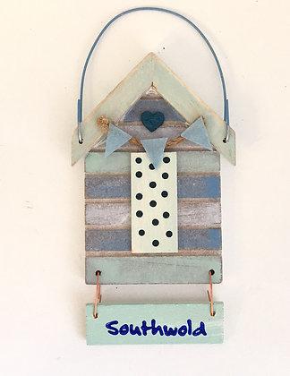 Southwold Beach Hut Sign