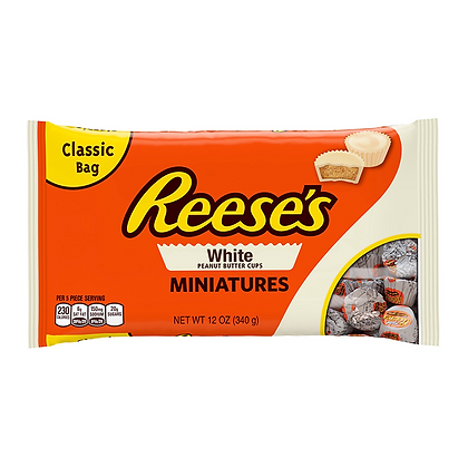 Reese's white peanut butter cups miniatures 340g