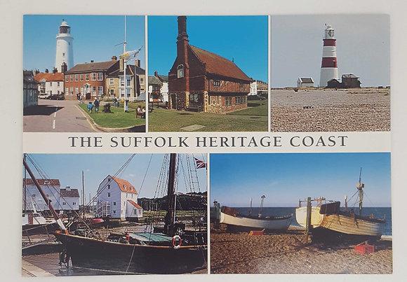 """The Suffolk Heritage Coast"" Postcard"