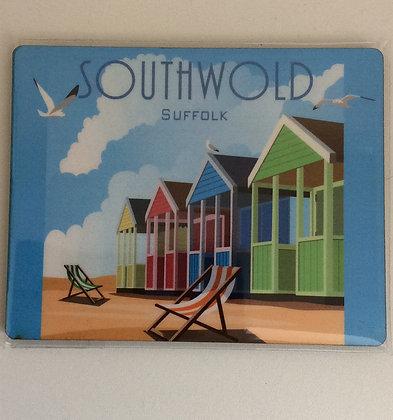 Southwold Beach Huts Coaster