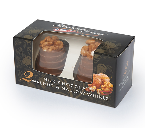 Hadleigh Maid Milk Chocolate Walnut & Mallow Whirls 75g