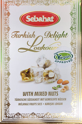 Sebahat Turkish Delight Loukoum Mixed Nuts (Vegan Approved) 250g