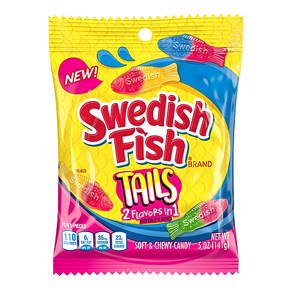 Swedish Fish Tails (2 Flavours in 1) 141g