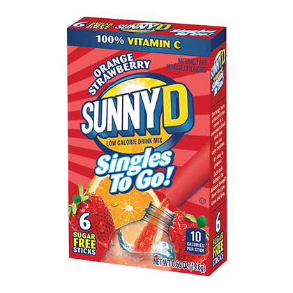 SunnyD Orange Strawberry Singles to Go 19.6g