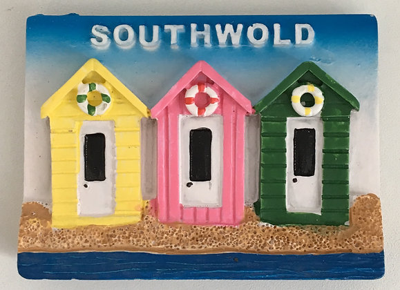Southwold Beach Huts Fridge Magnet